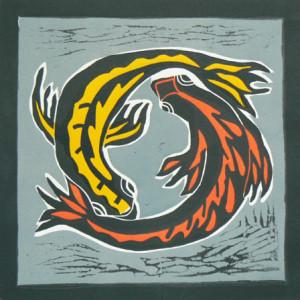 Vissen - beeldmaat 23,5 x 23,5 cm