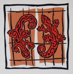 Hagedissen 1 - beeldmaat 27 x 28 cm